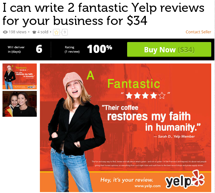 Misleading Yelp Review Service