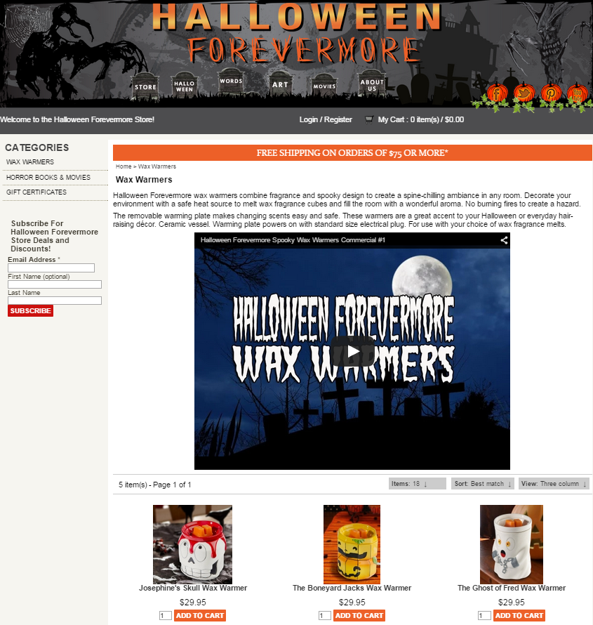 Halloween Forevermore Store