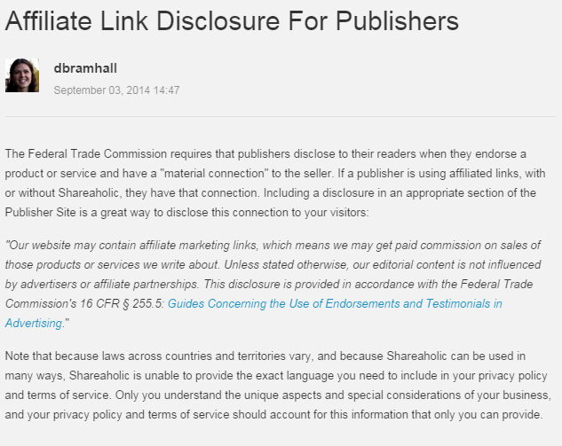 Shareaholic Disclosure Requirement - click to read