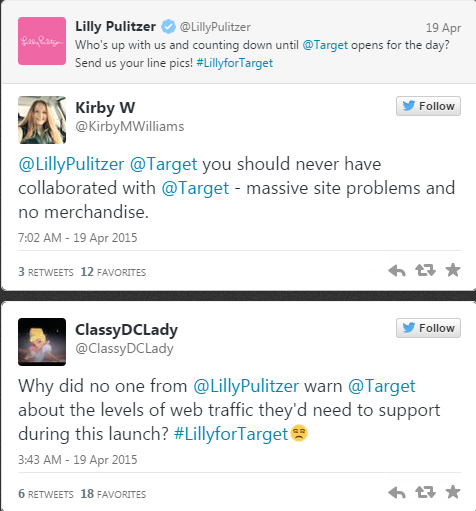 Customer tweets about Lilly for Target