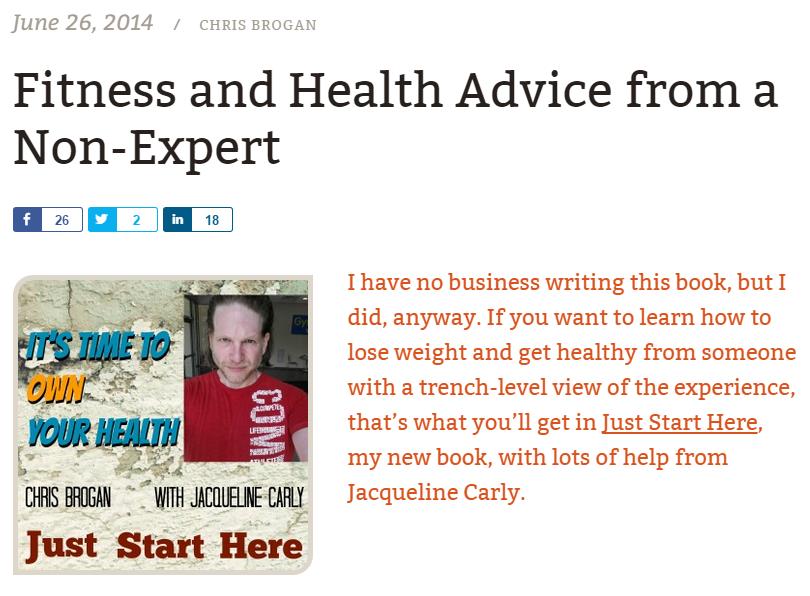 Screenshot of Chris Brogan: Start Here