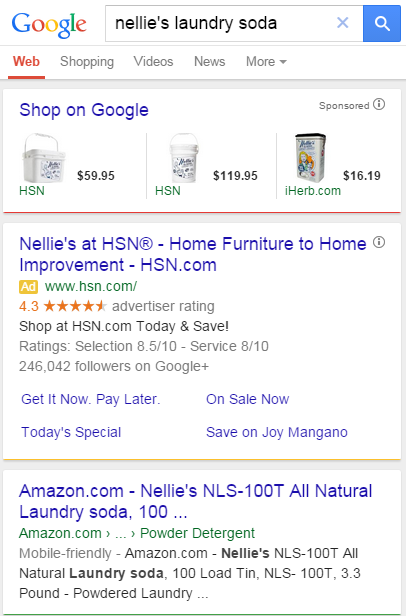 Image: Google Search with Ad Results