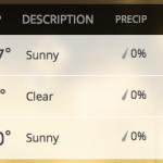 Screenshot of Weather in Phoenix