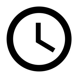 Hard line illustration of a wall clock