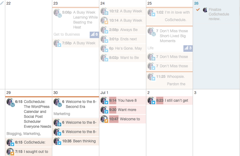 Screenshot of CoSchedule Drag & Drop Calendar