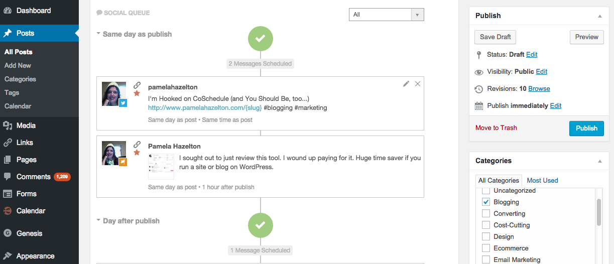 Screenshot of CoSchedule WordPress Plugin