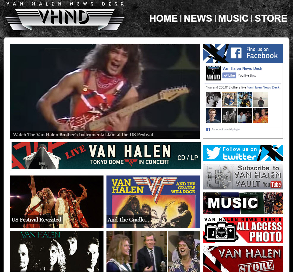 VHND Home Page - June 2015