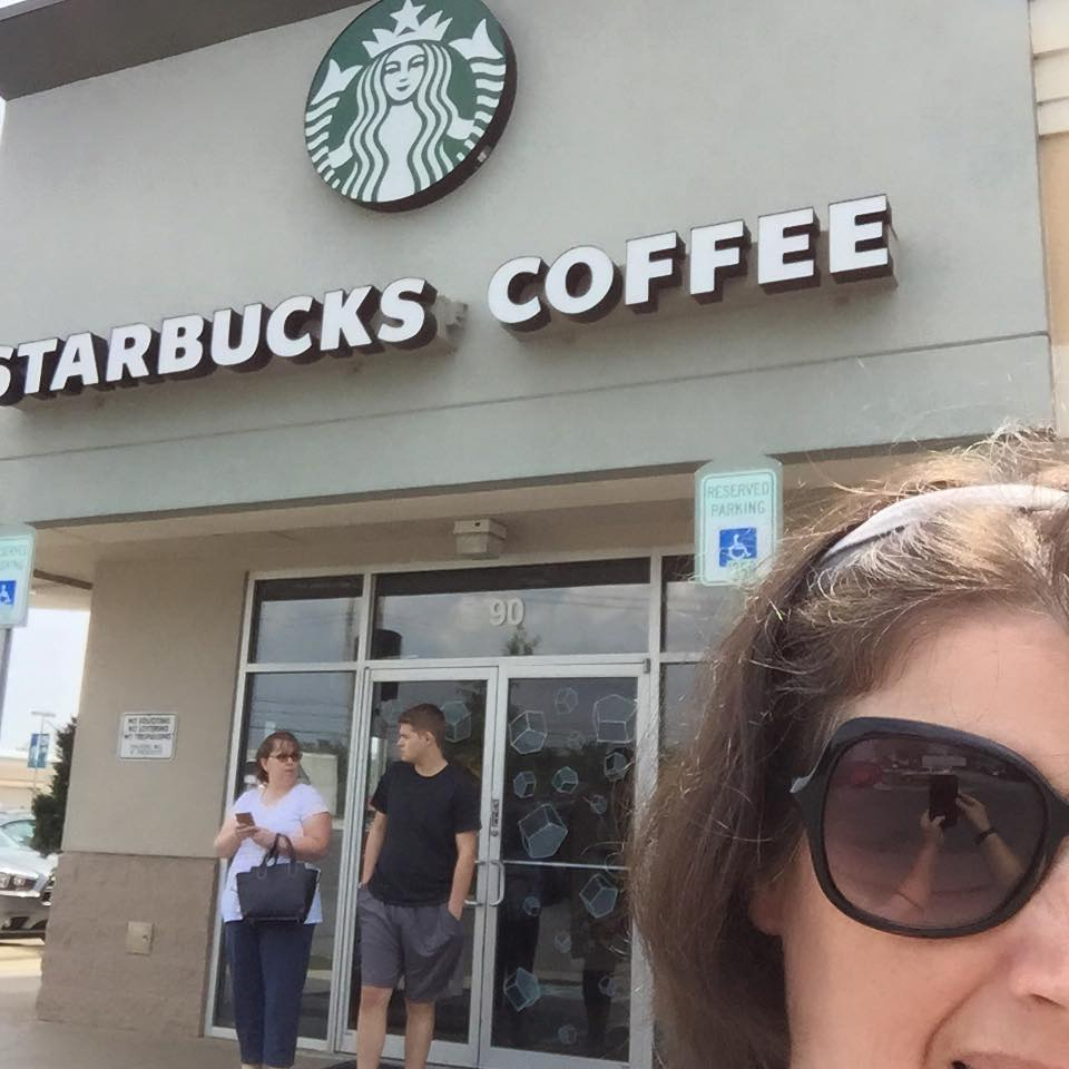 Me outside a Starbucks in Jessup, MD