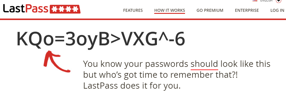 Screenshot: You know your passwords should be complex.