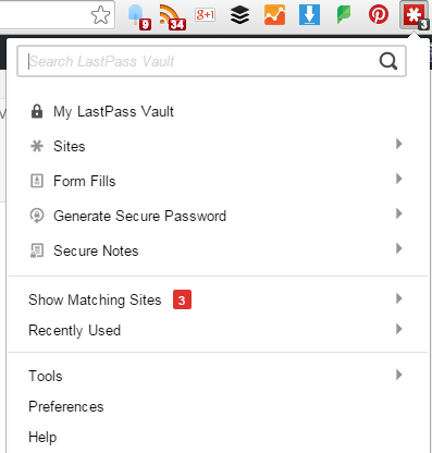 LastPass Vault via a Browser