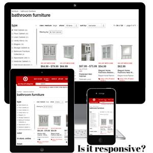 Image of desktop, table & phone loading a website