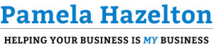Pamela Hazelton Official Site Logo: Helping Your Business is MY Business