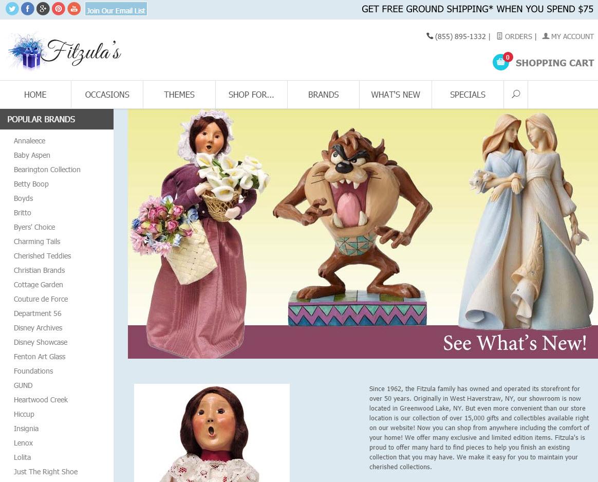 Screenshot of the fitzulas.com home page