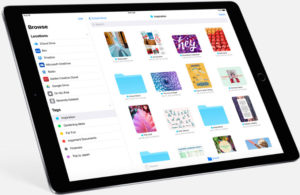 iOS 11 Files App looks similar to Mac Finder and Windows folders.